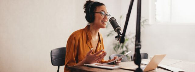 female hosting nursing podcast